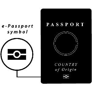 Look for the ePassport symbol on the front of your passport.